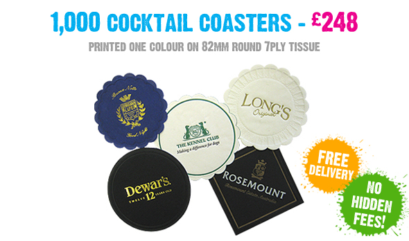 Promotional Cocktail Coasters